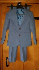 Matalan Boys Light Blue Cotton 2 Piece Suit Age 9