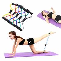 Yoga 6 Farbe Pull Rope Tube Pilates Widerstandsband Sport Fitness Rallye Ne Neue