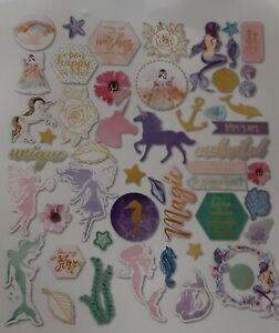 Mermaid's and Fairies Craft Stall Cardstock Printed Die Cuts x  50