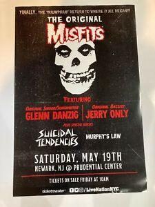 Misfits 5/19/18 Prudential Center RARE Promo Poster danzig