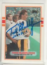 TODD BLACKLEDGE PITTSBURGH STEELERS 1989 TOPPS TRADED #31T PENN STATE AUTOGRAPH