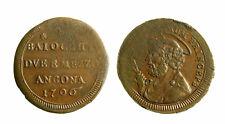 s294_7) Pio VI (1774-1799)   Sampietrino 2 Baiocchi e 1/2 1796 ANCONA