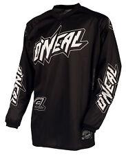 O'Neal Mens Black/White Freeride Threat Shadow Dirt Bike Jersey MX ATV 2016