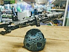 Starship Troopers Style Rodger Young Ship and Moon Aquarium Fish Tank Ornament