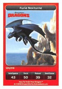Carte Carrefour Dreamworks - Dragons - Furie Nocturne  N°124