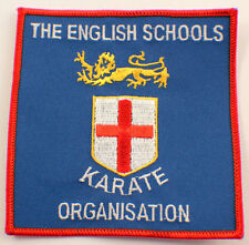 Martial Arts Embroidered Uniform Patch The English Karate Organistation   #Msrd