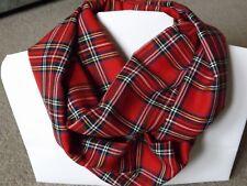Soft Warm Royal Stewart Tartan Infinity Scarf Snood Cowl Loop Plaid Mother's Day