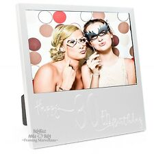 New Engraved Silver 30th Birthday Photo Frame Gift Celebration Memory Picture