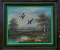 """Painting """"DUCK MIGRATION"""" OIL ON CANVAS signed """"HENRI MATYE"""" 2020"""