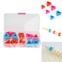 18pcs/box Knitting Needles Point Protectors for DIY Weave Needle Tip Stopper Gy