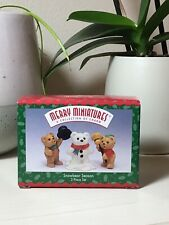 Hallmark 1997 Merry Miniatures Figurines Snowbear Season Teddy Bears Christmas