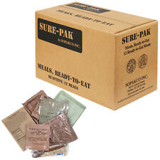 Sopakco Sure Pak MRE Meals Ready-to-Eat US Military Complete Box - 12 Meals