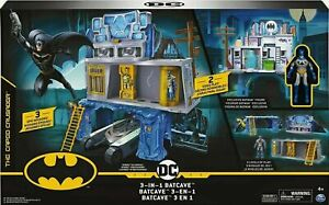 DC Batman BATCAVE 3 in 1 Playset with Batman Figure - 3 Levels of Play ! - NEW