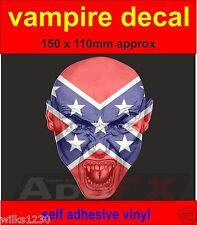 1x vampire USA flag decal sticker door laptop car van dub halloween