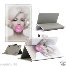 Housse Etui Tablette Galaxy Tab A 6 - 7 Pouces - Design Marilyn Bubble