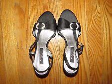 Women's Nina Shoes, New York,SZ 7M,Back Strap Style,Black.