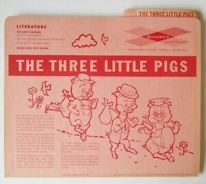 3 Little Pigs Unreleased RARE View-Master Reel with Record and Illustrated Book