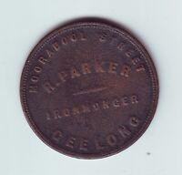 1850's Penny Trade Token R Parker Ironmonger Geelong Victoria Australia M-989