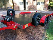 CAR TRAILER-FULL HYDRAULIC TILT -6 ALLOY WHEELS-