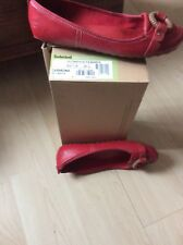Ladies Size  6 Red Timberland Carmona Pumps
