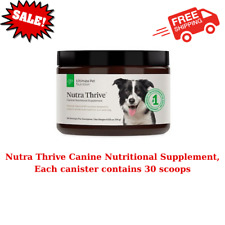 Nutra Thrive Canine Nutritional Supplement, Each canister contains 30 scoops