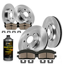 Front And Rear Brake Rotors & Ceramic Pads For Lexus ES350 Toyota Avalon Camry