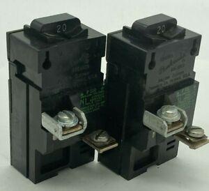 2X Pushmatic Bulldog P120 20 Amp 1P 120VAC ITE Gould Siemens No Shields Breaker