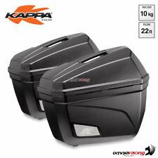 Coppia di valigie laterali Kappa K22N Monokey 22 litri ABS con catadiottro rosso