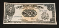 1949 Philippines 2 Peso Bank Note Uncirculated