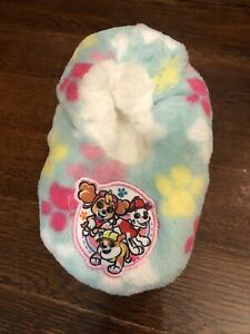 Toddler Girls  PAW Patrol Top Up Pup Pals Slippers Blue Size 2T-3T NEW w/ Tags
