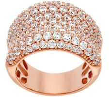 DIAMONIQUE 14K ROSE CLAD STERLING BOLD CONCAVE BAND RING SIZE 9 QVC $68.50