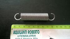molla a trazione acciaio armonico zincata L80mm - ø 16mm - filo 2,2 mm  98153