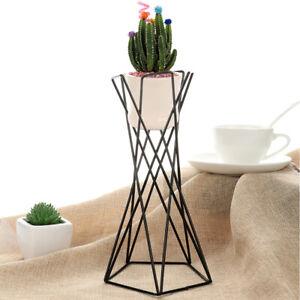Creative Metal Air Plant Pot Stand Flower Display Shelf Wrought Iron Indoor