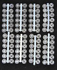 Nylon Botones de presión Transparente 7mm para coser 48 PCS