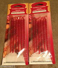 Yankee Candle Cinnamon Fragrance Scented Icicles Christmas Tree Ornament Lot 2