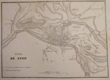 1850 MAPPA MILITARE BATTAGLIA ASSEDIO LIONE SIEGE LYON
