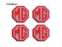 MG ZT Car Alloy Wheel Centre Cap Logo Badges Red Silver 45mm Hub Caps Emblem