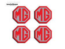 MG MGF LE500 Car Alloy Wheel Centre Cap Badges Emblem Logo Decal Red Silver 45mm