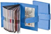 Rimbaldi® Kreditkartenetui in Blau mit verstärkten Fächern aus feinem Leder