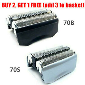 UK Electric Shaver Replacement Foil Cassette Cartridge For BRAUN Series7 70B 70S