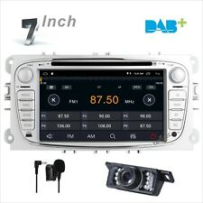 "7"" Ford Focus Mondeo C-Max S-Max Car CD DVD Radio GPS Sat Nav Bluetooth DAB+ Cam"