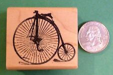 Bicycle, Antique, wood mounted rubber stamp