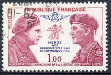 STAMP / TIMBRE FRANCE OBLITERE N° 1773 BOURGOIN ET KIEFFER PARACHUTISTES