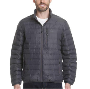 Gerry Mens 650 Down Fill Power Puffer Quilted Sweater Down Zip Up Jacket Coat