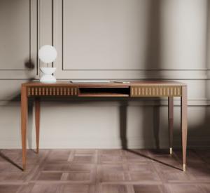 American Walnut Sit-Stand Studio Desk