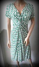 UK size 16 PHASE EIGHT Viscose/Elastane green & white swirls empire line dress