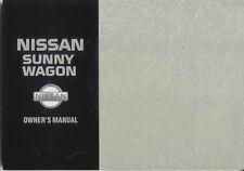 Nissan Sunny Estate & Van 1.6 1.7D 2.0D 1992-95 Original Owner's Handbook