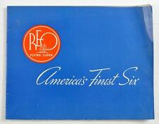 VINTAGE 1936 REO FLYING CLOUD COLOR SALES BROCHURE AMERICAS FINEST SIX