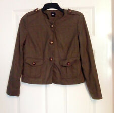 Asos Ladies Military Style Green Jacket Coat Buttons Pockets UK Size 12