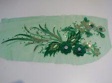 Luxury Large pcs sequins beaded floral lace Applique lace motif various colours